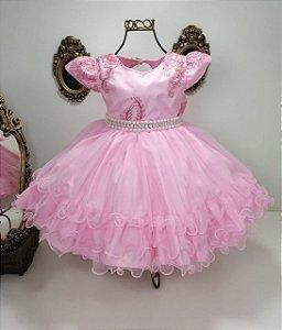 Vestido infantil Rosa 2070