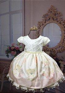 Vestido Infantil princesa ursa 1998