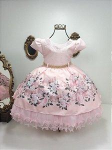 Vestido  infantil estampada 1868