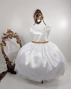Vestido Glitter Baby Branco 2140