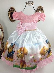 Vestido infantil Patrulha canina 325