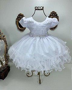 Vestido  branco batismo 1853