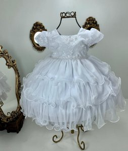 Vestido Branco Batismo 2516