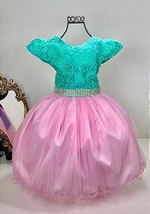 Vestido Infantil Ariel 2108