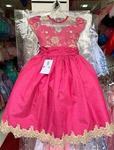 Vestido formatura pink