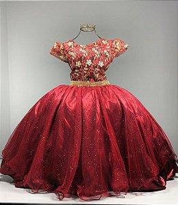 Vestido formatura Marsala casamento festa