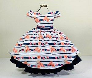 Vestido infantil floral cereja 1446