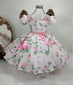 Vestido infantil giovanella floral 1296
