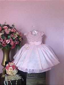Vestido  Rosé Luxuoso 2591
