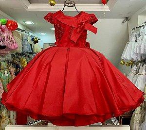 Vestido infantil vermelho luxo 2633