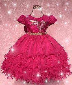 Vestido  infantil  pink 1730