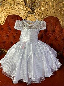 Vestido  Branco Devorê 2629