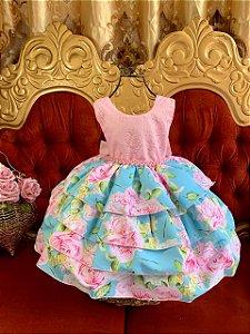 Vestido Com renda giovanella 1447