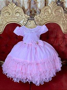 Vestido Infantil Rosa bebe menina bonita