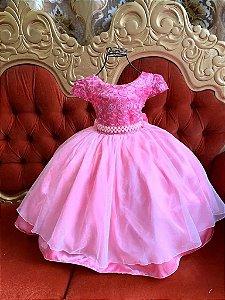 Vestido Rosa de luxo Casamento 371