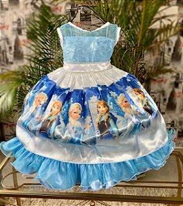 Vestido temático frozen  325