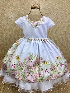 Vestido Infantil Princesa Ursa