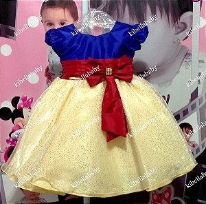 Vestido Infantil Branca de Neve  tam - 1 ao 3
