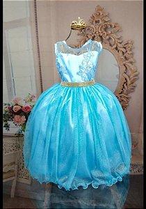 Vestido Azul Tifanny Luxo