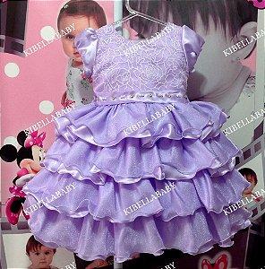 Vestido Infantil Princesa Sofia - tam 1 ao 3