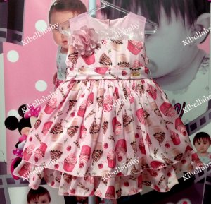 Vestido Infantil Miss Sweet - Tam 1 ao 3