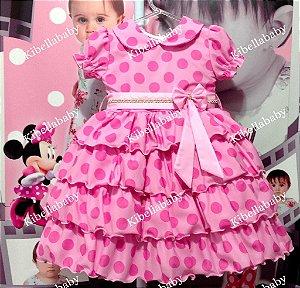 Vestido Infantil Peppa Pig - Tam 1 ao 3