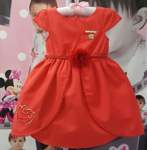 Vestido Infantil Hello Kitty Tam 1 ao 3