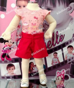 Conjunto Blusa e Short da Hello Kitty Tam: 1 ao 3