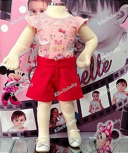 Conjunto Blusa e Short da Hello Kitty Tam: 1 ao 3