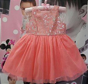Vestido Infantil Brandili Saia de Tule - Tam 1 ao 3