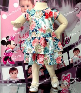 Vestido Infantil de Festa Hello Kitty Tam - 1 ao 3