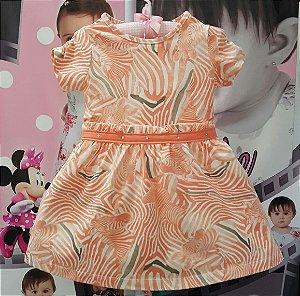 Vestido Infantil Brandili Malha em Cotton Zebra - Tam 1 ao 3