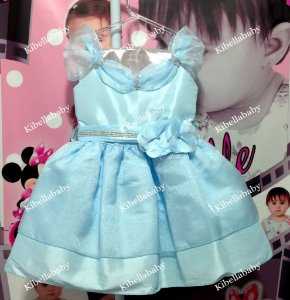 Vestido Infantil de Festa Princesa Frozen - Tam 1 ao 4