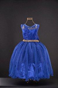 Vestido  Azul Royal com glitter