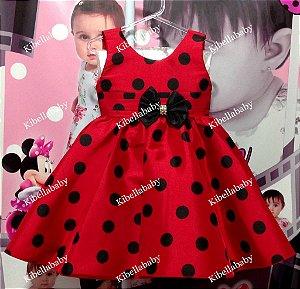 Vestido Infantil Minnie Verão Tam: 1 ao 4