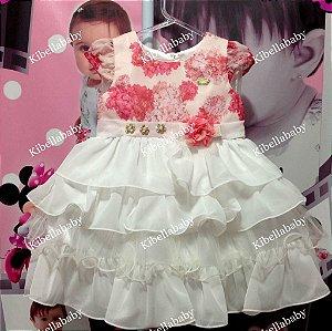 Vestido Infantil Mini Miss -  tam 1 ao 4