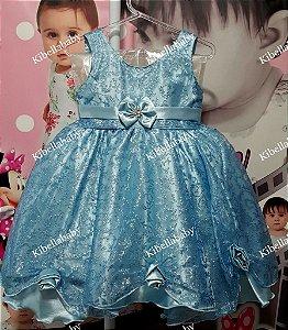 Vestido Infantil de Festa Princesas - tam 1 ao 3