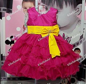 Vestido Infantil Minions - tam 1 ao 3