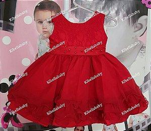 Vestido de Bebe de Festa Baby - P ao G