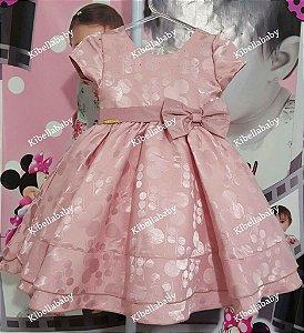 Vestido Infantil Minnie Rose - tam 1 ao 3