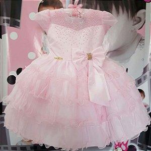 Vestido Infantil de festa Princesa Disney - tam 1 ao 3