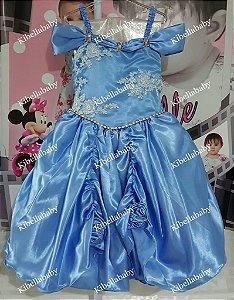 Vestido Infantil Cinderela - tam 6