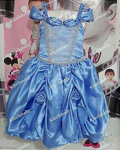 Vestido Infantil de Festa Princesas Disney - tam 4 e 6