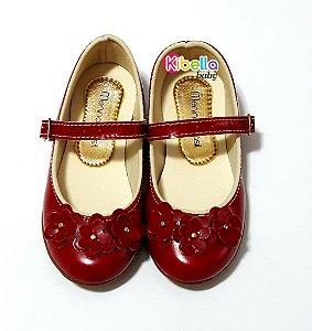 Sapatilha Infantil Vermelha Menina Brasil - 20 x 27