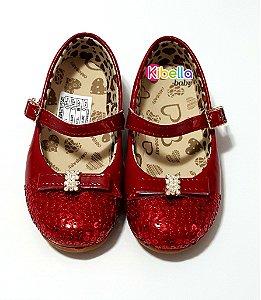 Sapatilha Infantil Vermelho Orto Baby - 20 x 27