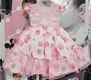 Vestido Infantil de Festa Jardim Encantado  - tam 1 ao 4