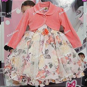 Vestido Infantil Princesa Jardim Encantado - tam 1 ao 4