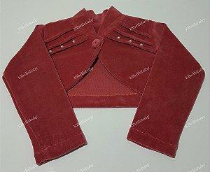 Bolero Infantil Rose Plush - tam 2 e 3