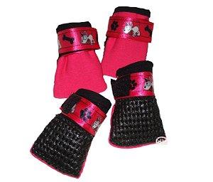 Sapato de Cachorro Nylon Pink com solado Antiderrapante