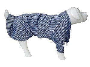 Roupa de Cachorro Camisa Social com Bolso Azul  - Peso indicado: 12 a 20 Kg